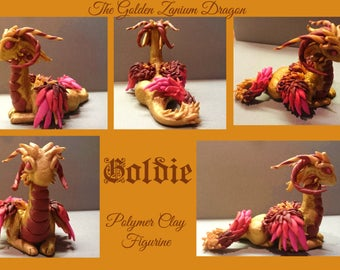 Goldie, The Polymer Clay Dragon