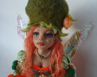 """Elfie"""" Ooak art doll"""
