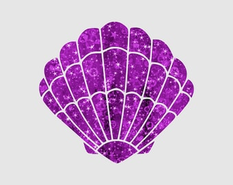 Mermaid Shell SVG Shell SVG Mermaid Clam Svg Summer SVG Little Mermaid Svg Files for Cricut Silhouette Vector Cut Files svg png eps dxf