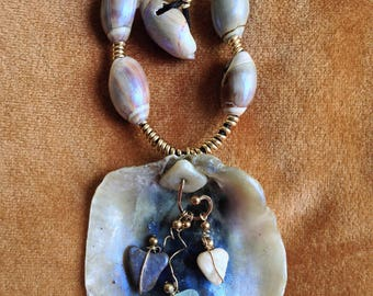 Sea Glass, Sea Stone, and Shell  Necklace