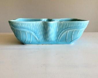 Vintage Blue Bow Tie Planter - Vintage Pottery