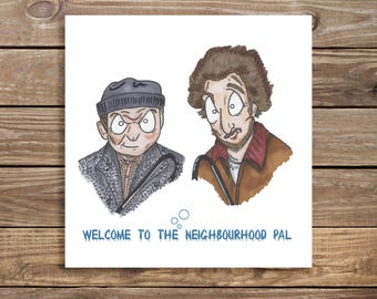 New Home Card Home Alone Inspired card, Wet Bandits, Congratulations on your new home