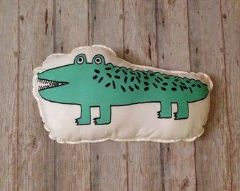 Alligator panel, alligator plush, alligator pattern, alligator toy, crocodile softies, crocodile panel, plush panel, plushies cushion cover