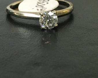 NEW MARKDOWN! 14k White Gold Solitaire Ring .50 CT