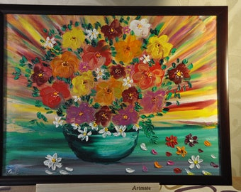 Energy painting, Summer Flower Radiance