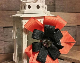 Orange and Black Bow