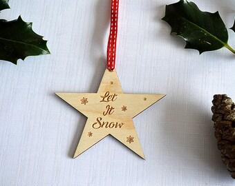 Let It Snow Christmas Tree Decoration