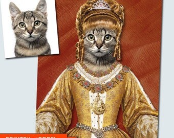 Custom Pet Photo,Your Pet Photo,Pet Memorial,Pet Tribute,Pet Lover Gift,Cat Poster,Humorous Pet Portrait,Animal Wall Art,Pet Decor,Vets,Cats