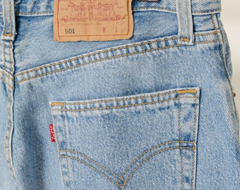 Levis 501 high waisted jeans
