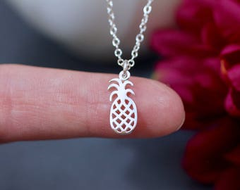 Sterling Silver Pineapple Charm - Fruit Charms - Pineapple Pendant - Make your own charm necklace