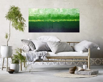 Large Green Painting, Large Abstract painting, Abstract Artwork,  Original Abstract Painting, Textured Painting (Ships Ready to Hang)