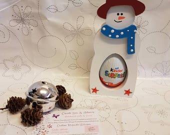 Kinder Egg Chocolate Holders, Christmas, Stocking Fillers, Secret Santa, Small Christmas Gift, Reindeer, Snowman, Santa, Father Christmas,