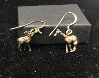 Vintage Sterling Silver Giraffe Earrings MARKED