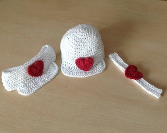 Crochet PATTERN Baby Visor Hat & Heatband Set N 220 Size 0-6 and 6-12 months, Toddler