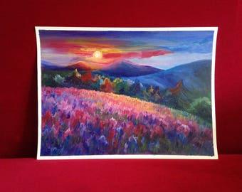 Landscape Artwork, Original acrylic painting, landscape art, colourful artwork, Home Decor wall, gift for women, original artist painting