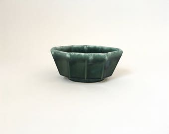 Mid century small teal planter