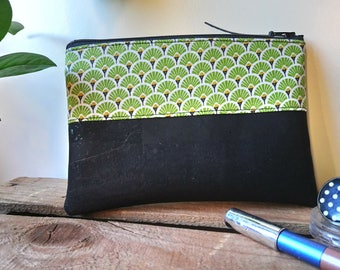 Vegan - Cork - cork - handmade - made in France - gift for her - eco-friendly leather pouch