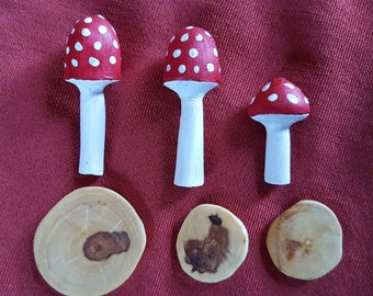 fairy garden toadstools and stepping stones