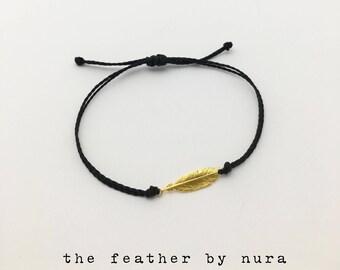 Vermeil Gold Feather Bracelet