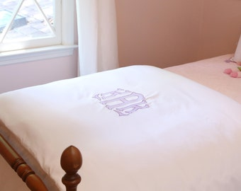 Monogram Applique Full Queen Duvet Monogrammed Bedding