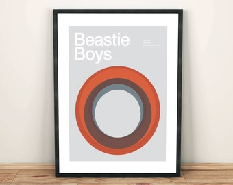 Beastie Boys Remixed Gig Poster, Art Print, Music Poster