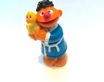 Vintage Bathtime Ernie and Rubber Duckie