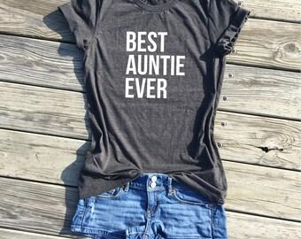 best auntie ever, dark grey unisex tee, best auntie ever, gifts for auntie, gifts for her, aunt gifts, family gifts, best aunt ever shrit