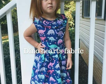 Girly dinosaur dress,toddler dinosaur dress,girl dinosaur,baby Dinosaur dress,jurassic dress,dinosaur party dress, first birthday dress