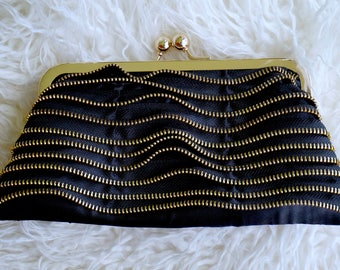 Gold Zipper Purse
