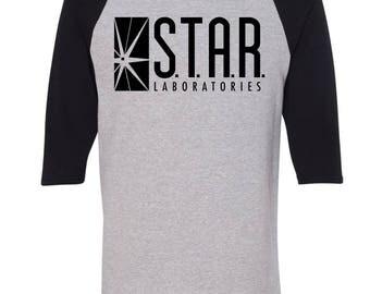 Star Labs Baseball T-Shirt. Star Laboratories. The Flash Tv Show. Star Labs Shirt. Star Labs Sweater. Flash Shirt. Star Labs T Shirt. S-3XL.