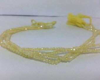 AAA Lemon Cubic Zirconia Faceted Rondelle Beads, CZ Beads, Yellow Cubic Zirconia, Cubiz Zirconia Beads, Zirconia Beads, Cubic Strands Beads