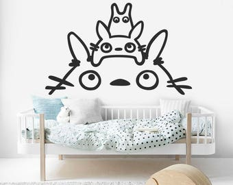 Totoro Kids Decal, Totoro Over Bed Sticker, Totoro Wall Decal, Kids Room  Decal
