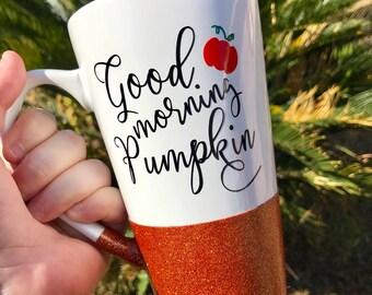 Good Morning Pumpkin - Halloween Coffee Mug - Pumpkin Cup - Pumpkin Mug - Morning Pumpkin - Fall Cup - Pumpkin Coffee Mug - Hello Pumpkin