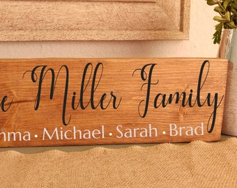 Wood Block, Family Name signs, Personalized Signs, Last Name Signs, Wood Decor, Custom Sign, Housewarming Gift