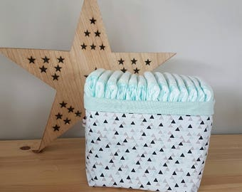 Hamper / basket / Organizer in layers or storage triangles multi
