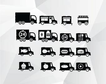 Food Truck Svgpngjpg Clipart For PrintDesign