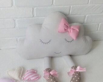 Cloud Pillow, Cloud cushion, Pillow Cloud, Nursery Decor, Baby shower girl gift