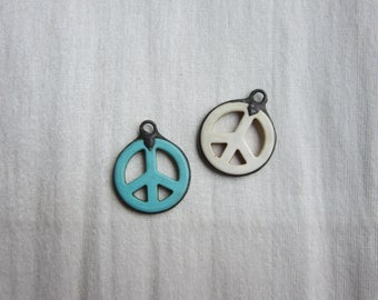 Hand Soldered Stone Peace Sign Pendant