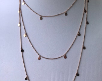 gold plated sterling silver layered chain
