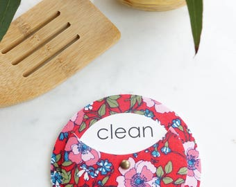 Clean Dirty Dishwasher Magnet - Refrigerator Magnet for Dishes - Gift for Roommates - Floral Home Decor | Home Organization
