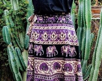 1970's/ 80's Indian block print wrap skirt