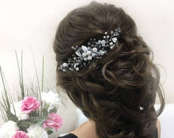 Bridal hair comb Bridal comb Pearl hair comb Wedding Hair piece Bridal headpiece Bridal hair accessories Wedding Hair jewelry Wedding comb