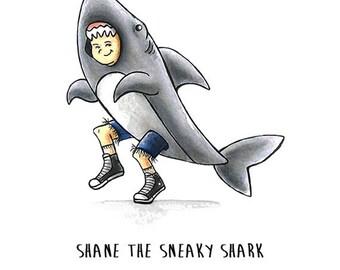 Shane the Shark greeting card
