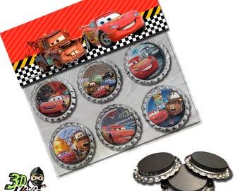 Disney Cars Magnets   Bottle Cap Magnets   Party Favors   Gift