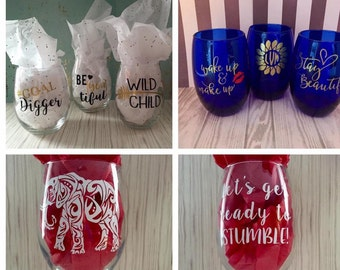 Personalized glasses, cups and more!