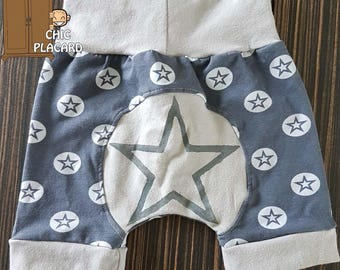 "Pants short ""Super Star"" hand painted"