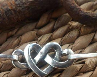 James Avery Heart Knot Bracelet,Sterling Silver