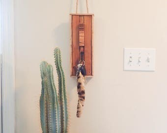 Zebrawood and Cedar key holder