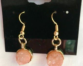 Small Rose Quartz Earrings