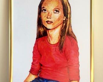 Kate Moss Illustration Print